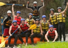 Rafting in der Gruppe